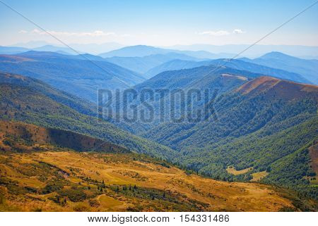 Beautiful mountain landscape in Carpathians . Ukraine