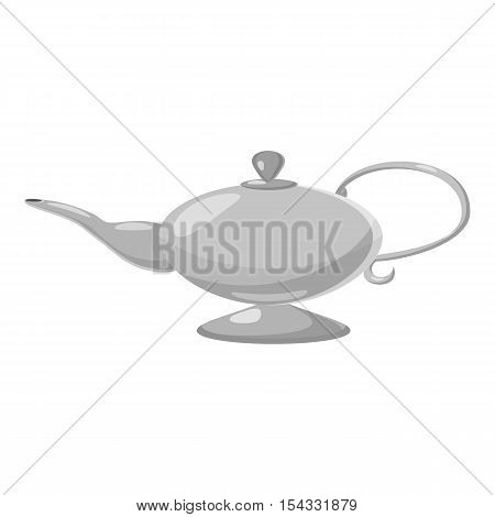 Kettle icon. Gray monochrome illustration of kettle vector icon for web