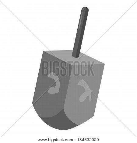 Dreidel for Hanukkah icon. Gray monochrome illustration of dreidel for Hanukkah vector icon for web