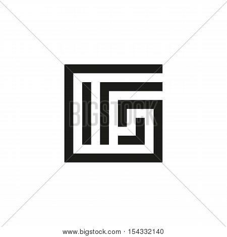 Unusual geometric letter G. Architecture vector logo. Isolated monogram