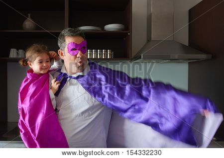 Superhero Father And Child
