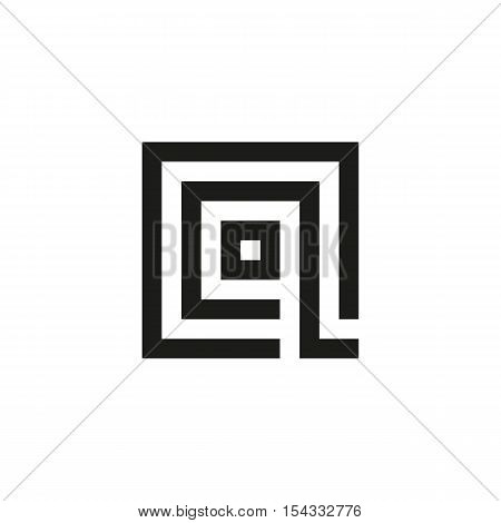Unusual geometric letter Q. Architecture vector logo. Isolated monogram