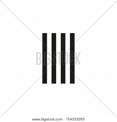 Unusual geometric letter I. Architecture vector logo. Isolated monogram