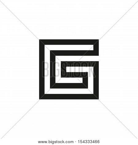 Unusual geometric letter G Architecture vector logo. Isolated monogram