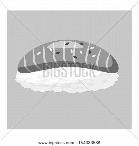 Bun icon. Gray monochrome illustration of bun vector icon for web