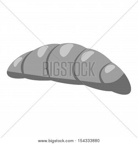 Croissant icon. Gray monochrome illustration of croissant vector icon for web