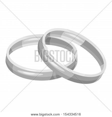 Engagement rings icon. Gray monochrome illustration of engagement rings vector icon for web