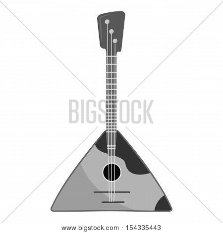 Balalaika icon. Gray monochrome illustration of balalaika vector icon for web