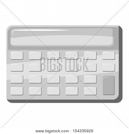 Calculator icon. Gray monochrome illustration of calculator vector icon for web