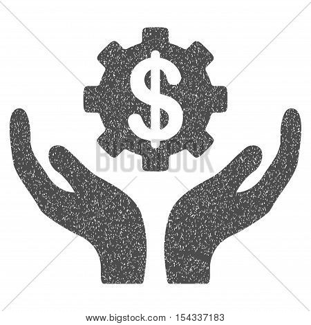 Maintenance Price grainy textured icon for overlay watermark stamps. Flat symbol with unclean texture. Dotted vector gray ink rubber seal stamp with grunge design on a white background.
