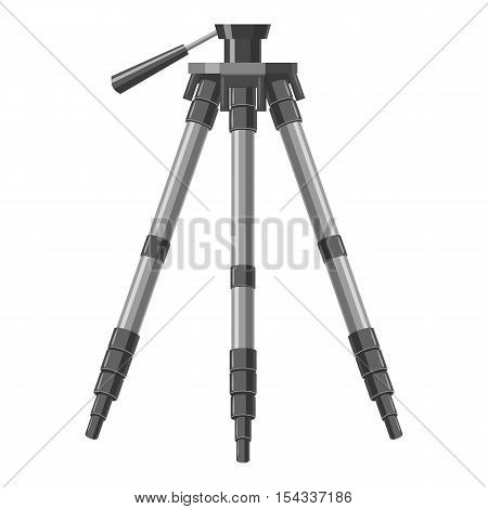 Tripod icon. Gray monochrome illustration of tripod vector icon for web