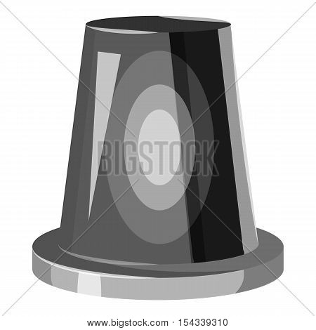 Siren flashing emergency light icon. Gray monochrome illustration of siren flashing emergency light vector icon for web