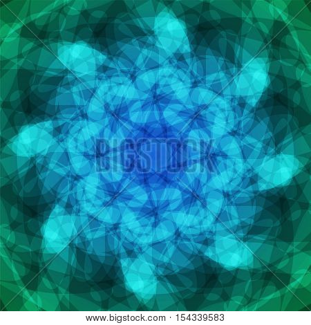 abstract vector spotted background - blue and green