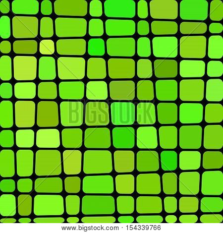 abstract vector stained-glass mosaic background - green and brown