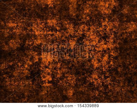 abstract wide colored scratched grunge background - orange