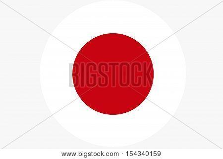 Japan flag ,Japan national flag illustration symbol.Circle flag illustration design