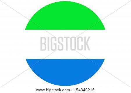 Sierra Leone flag ,Sierra Leone national flag illustration symbol.Circle flag illustration design