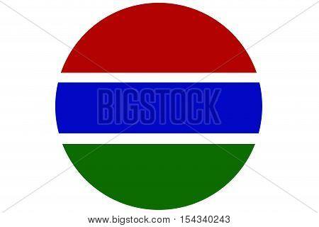 Gambia flag ,Gambia national flag illustration symbol.Circle flag illustration design