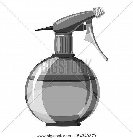 Hairdresser water sprayer bottle icon. Gray monochrome illustration of hairdresser water sprayer bottle vector icon for web
