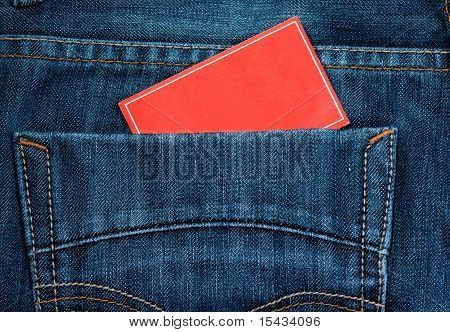 jeans pocket and paper note