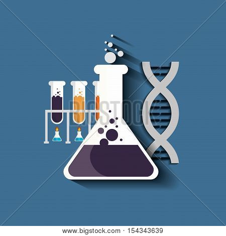 Science chemistry laboratory icon vector illustration graphic design