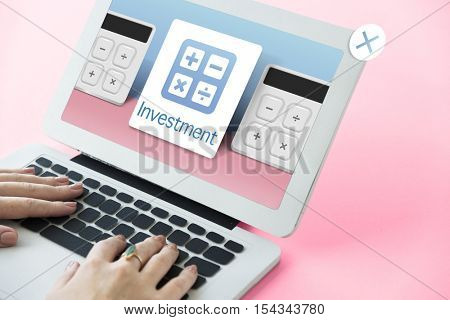 Accounting Banking Investment Budget Calculator Concept