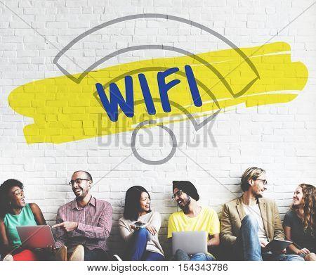 Wifi Multimedia Concept