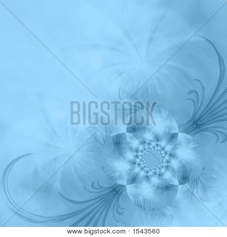 Blue Rose Abstract Background