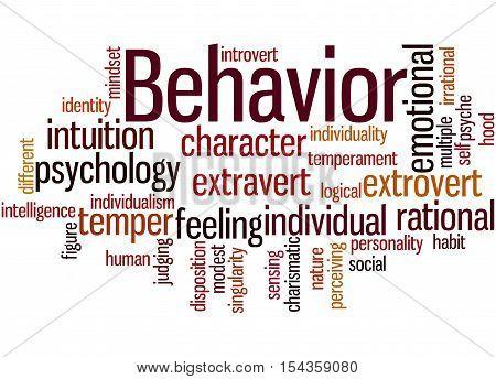 Behavior, Word Cloud Concept 9