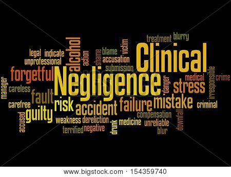 Clinical Negligence, Word Cloud Concept