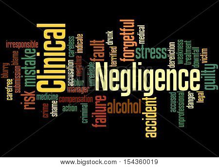 Clinical Negligence, Word Cloud Concept 6