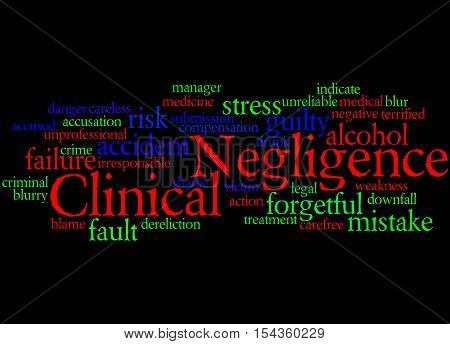 Clinical Negligence, Word Cloud Concept 9