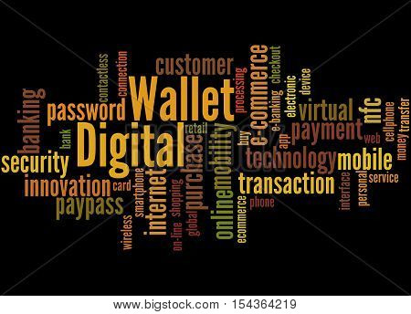 Digital Wallet, Word Cloud Concept 2