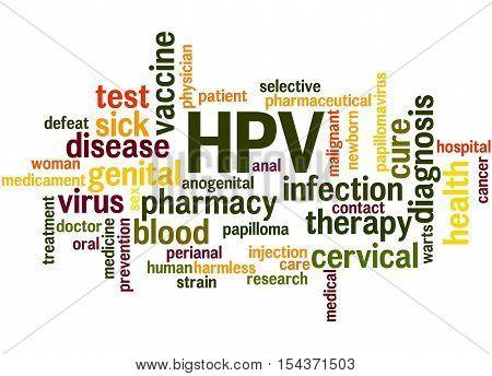 Hpv - Humani Papilloma Virus, Word Cloud Concept 5