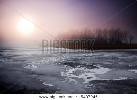 Birght winter landscape