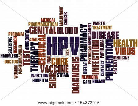 Hpv - Humani Papilloma Virus, Word Cloud Concept 9