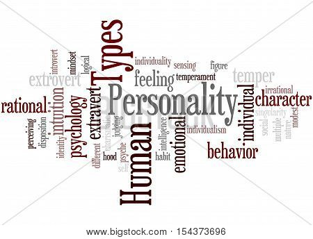 Human Personality Types, Word Cloud Concept 4