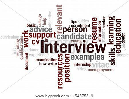 Interview, Curriculum Vitae, Word Cloud Concept 4
