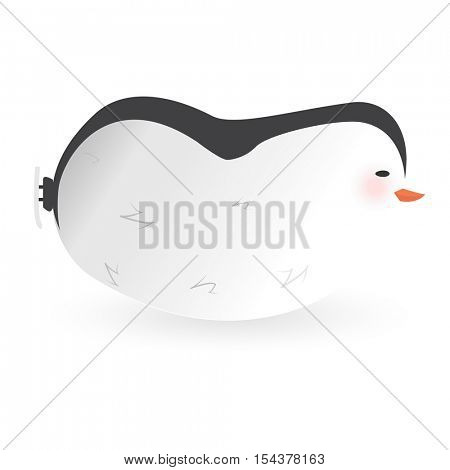Cartoon penguin character. Funny bird. Vector winter illustration isolated on white background