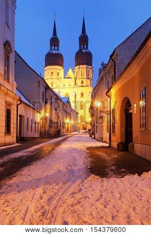 Trnava church Slovakia - Saint Nicolas at winter