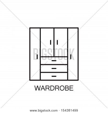 Wardrobe Line Icon.