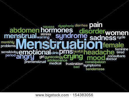 Menstruation, Word Cloud Concept 7
