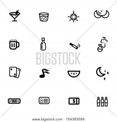 night life drink club icon vector eps 10