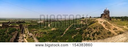Panorama of Rohtas fortress in Punjab Pakistan