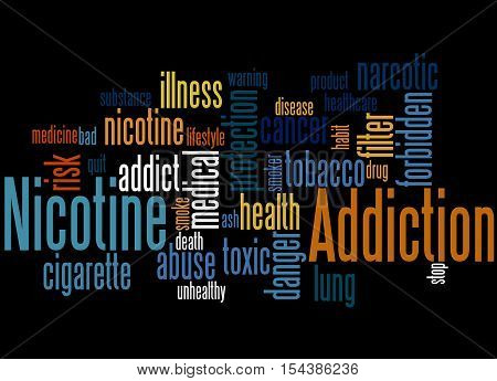 Nicotine Addiction, Word Cloud Concept 6
