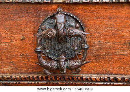 Brass ornament, Old Royal Palace, Prague