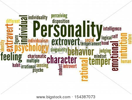 Personality, Word Cloud Concept