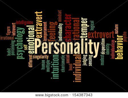 Personality, Word Cloud Concept 5