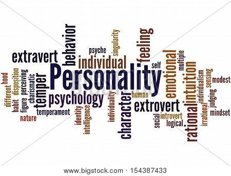 Personality, Word Cloud Concept 7