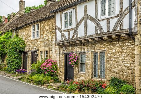 Castle Combe Village in the Cotswolds, Wiltshire, England